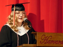 Harvard graduates reminded to live in the moment