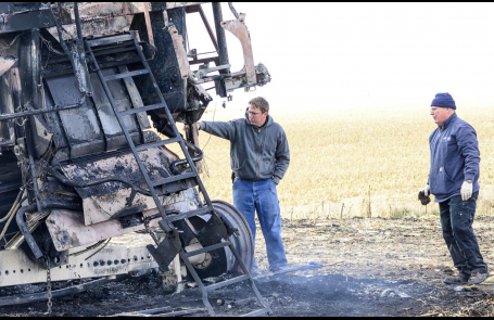 Early-morning fires destroy area farmer's equip. Oct. 15