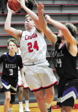 Cards chart first win over Axtell, fall to Santee and Franklin