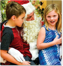 Santa visits abound in Clay County