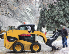 Rain, ice cause damage to trees; create slick roads