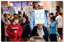 Celebrating 100 days, 10 decades at Sutton Elementary