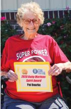 Bourke receives first-ever Betty Mertens Spirit Award