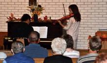 Couple entertains at Fairfield Church Oct. 6