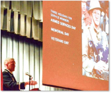 County thanks veterans for their service Monday