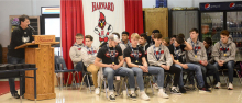 Harvard FB players receive championship rings