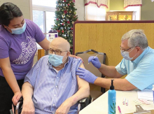 Sutton home residents, staff receive COVID-19 vaccine