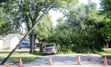 Strong winds heavily damage areas of county