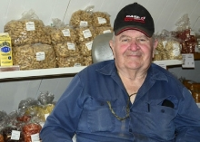 For 50 years, Gene Andersen has greeted visitors and shoppers to his Nut House in Ong. Up until 2000, Andersen also sold home grown Christmas trees. Today, he continues to sell nuts, veggies and an assortment of other goodies.