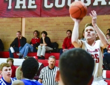 Senior Colton Shuck would gain 17 points in three games during the GICC tournament. His Cougars would win one of three games.